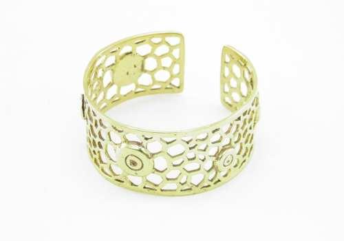 Recycled Brass Bracelet – Bees Nest And Bullet Rim