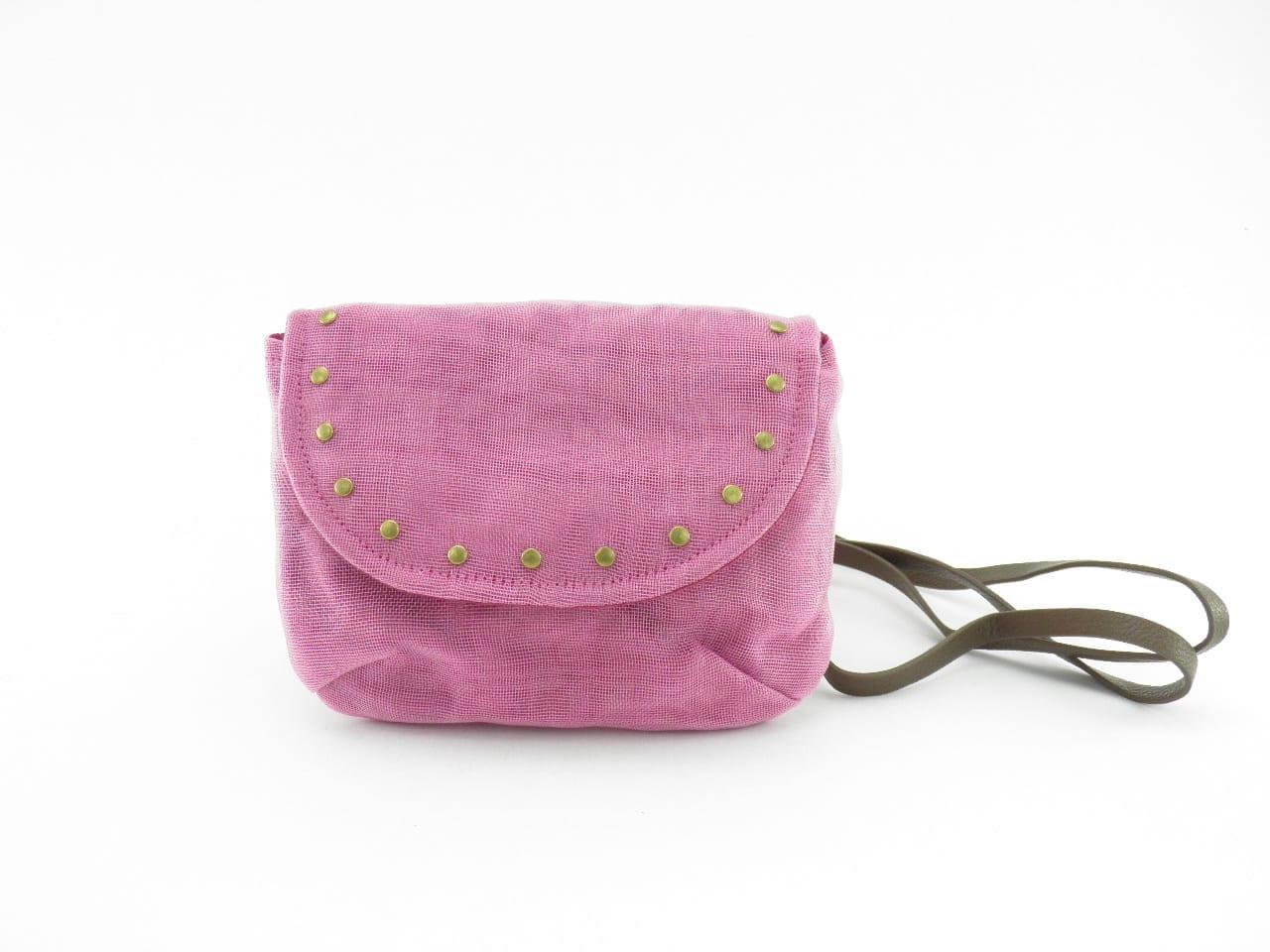 Le Minibag - Sac avec rivets éthique - Rose