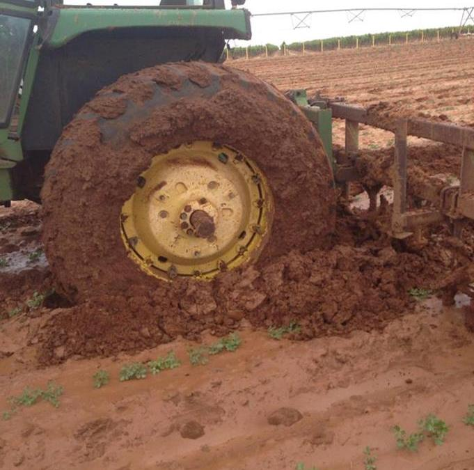 Tractors in the Mud
