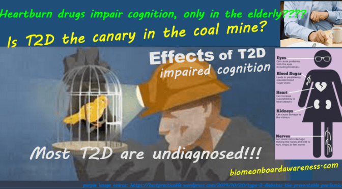 Heartburn drugs, dementia, Alzheimer's risk for all? T2D, is it the canary in the coal mine!?!
