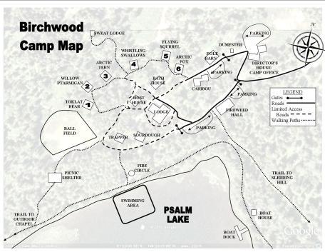 Birchwood Camp Map