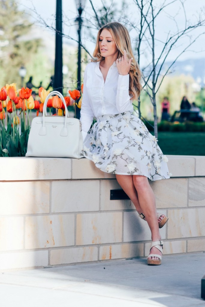 floral skirt chicwish