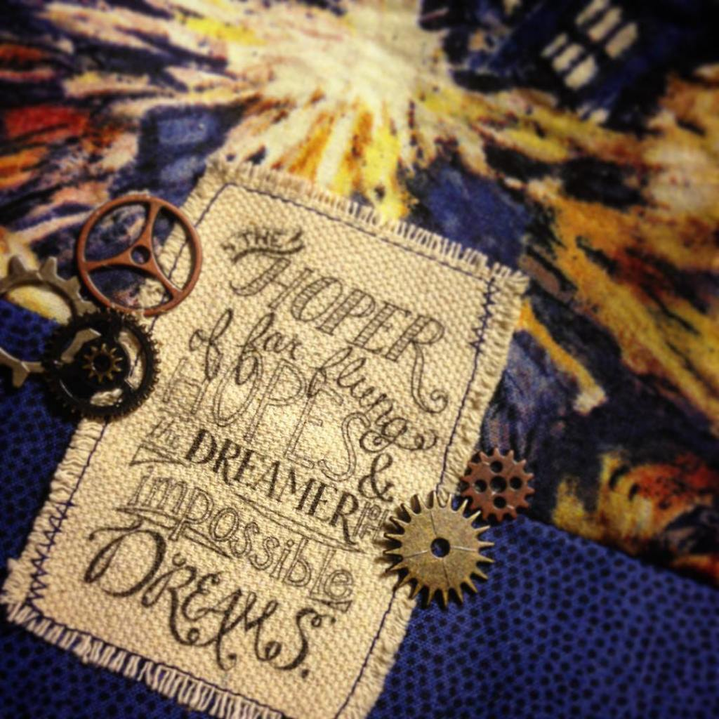 Exploding tardis fabric a sweet doctorwho quote some sprockets andhellip