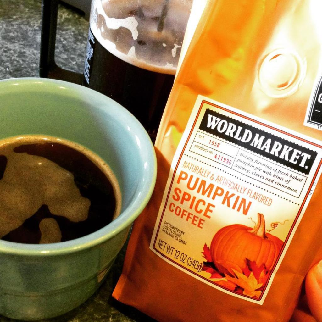 Boom thatjusthappened pumpkin spice coffee from worldmarket Break out thehellip