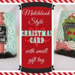 Matchbook Style Christmas Card and Gift Holder