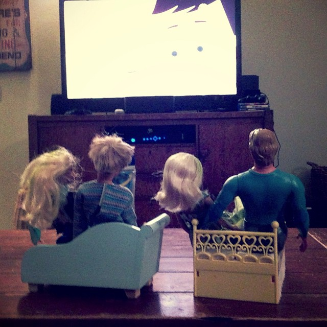 Triple date movie night. #momlife #barbie