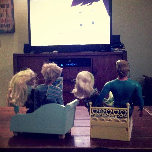 Triple date movie night. #momlife #barbie