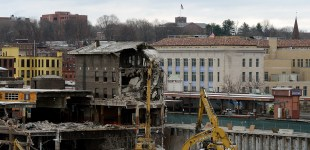 Demolition Work at Union Station, Springfield.