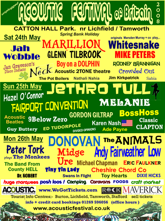 The Acoustic Festival of Britain flyer