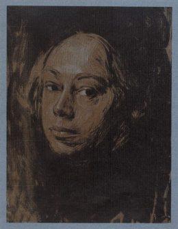 Self portrait – looking left (1901) / Käthe Kollwitz © The Trustees of the British Museum
