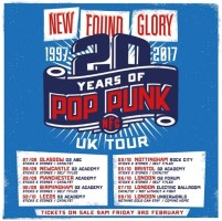 New Found Glory 20 Years of Pop Punk Tour (UK)