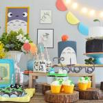 Colorful Totoro Birthday Party