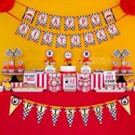 Classic-Race-Car-Birthday-Party-Dessert-Table