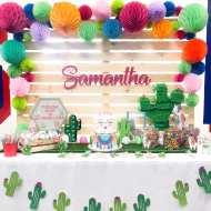 Festive-Llama-Birthday-Party-Dessert-Table