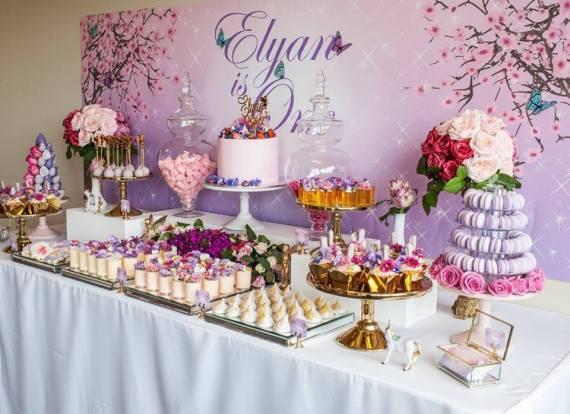 Colorful-Secret-Garden-Birthday-Party-Dessert-Spread