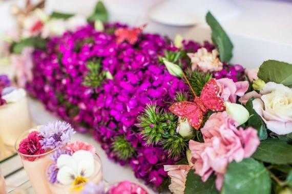 Colorful-Secret-Garden-Birthday-Party-Flower-Display