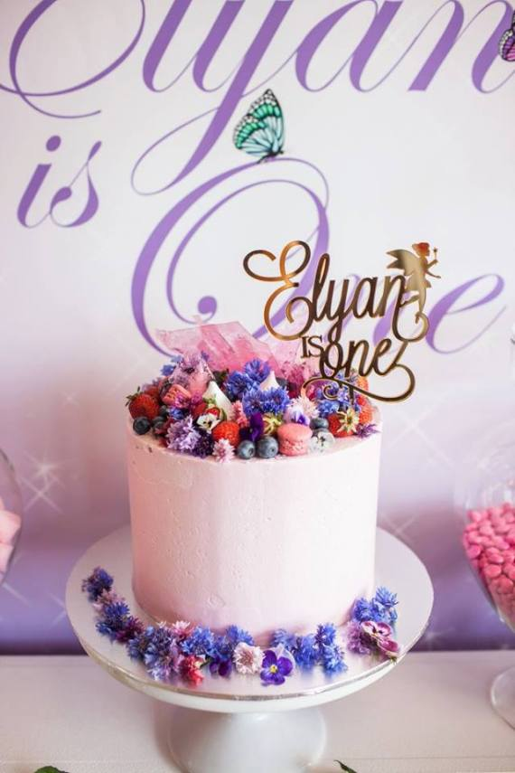 Colorful-Secret-Garden-Birthday-Party-Tall-Cake