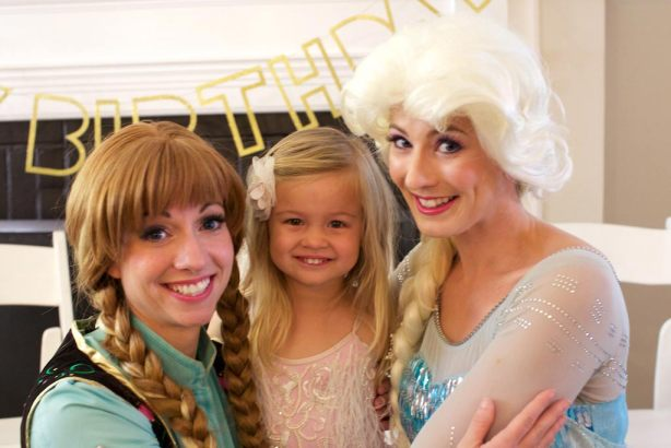Birthday Girl with Anna and Elsa