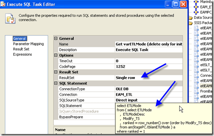 "SSIS - ""Full result set"" to a set variable of Object (3/6)"