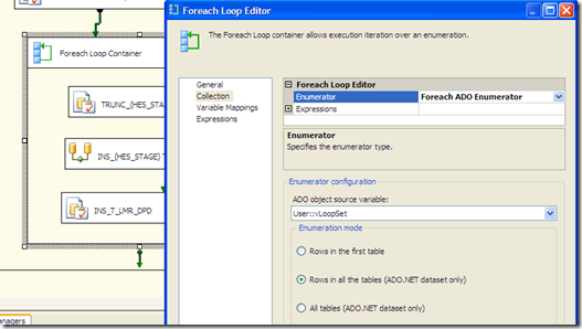 "SSIS – Use ""Foreach Loop Container"" and pass a variable to a OLE DB Source in a Data Flow (1/3)"
