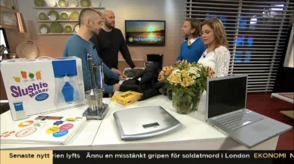 TV4 Nyhetsmorgon med Peter Jihde och Tilde De Paula