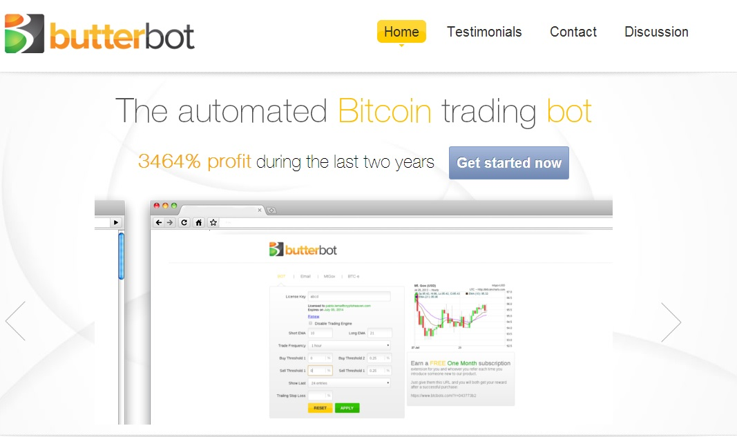 Butter Bot Site Preview