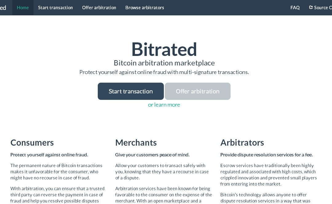 Mainstream Consumer Protection Meets Bitcoin Thanks To Innovative Startup Bitrated