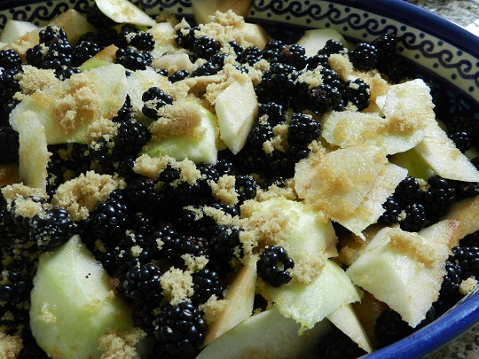 Blackberry and Apple Crumble and CBC
