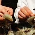 peeling jumbo shrimp