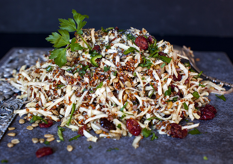 celery root slaw – a crunchy winter salad