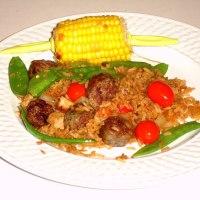 Locrio de longaniza estilo arroz frito