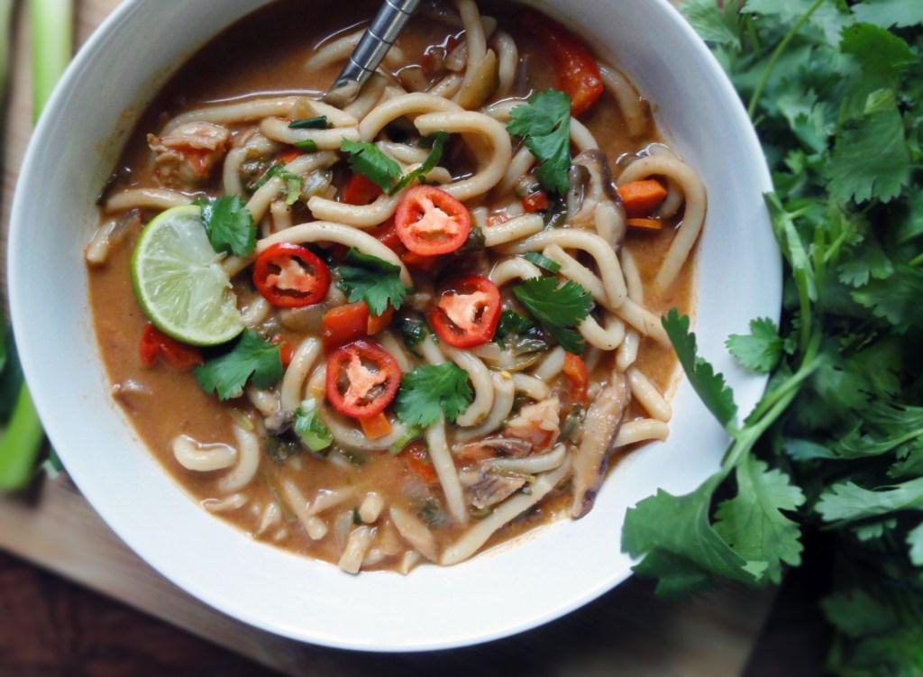 Shrimp Udon Noodle Soup