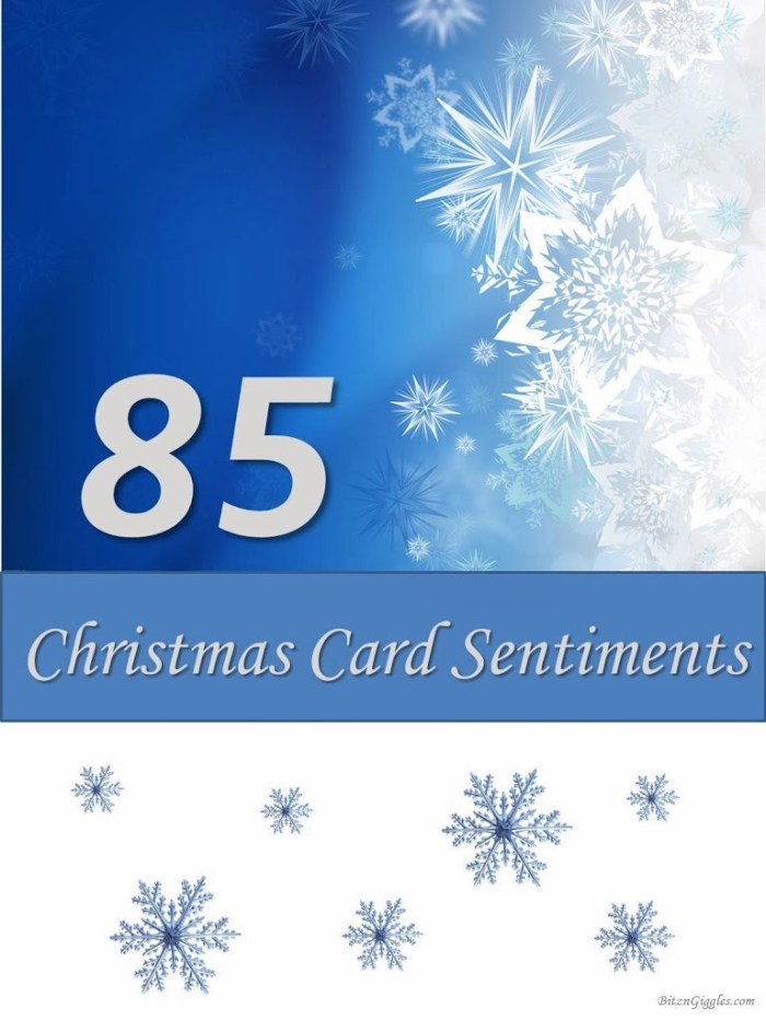 85 Christmas Card Sentiments - When you're not quite sure what to write in your Christmas cards this printable saves the day!