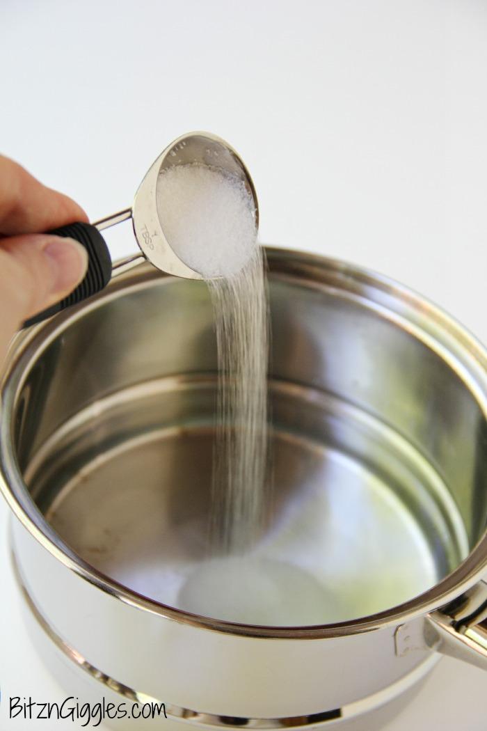 Salt in pan