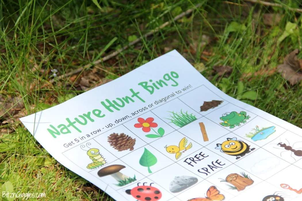 47 Incredibly Fun Outdoor Activities for Kids - Nature Hunt Bingo #hobbycraft
