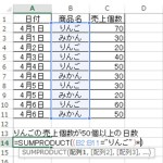【Excel講座】SUMPRODUCT関数の使い方5つの手順