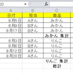 【エクセルの基本】集計(小計)機能の使い方