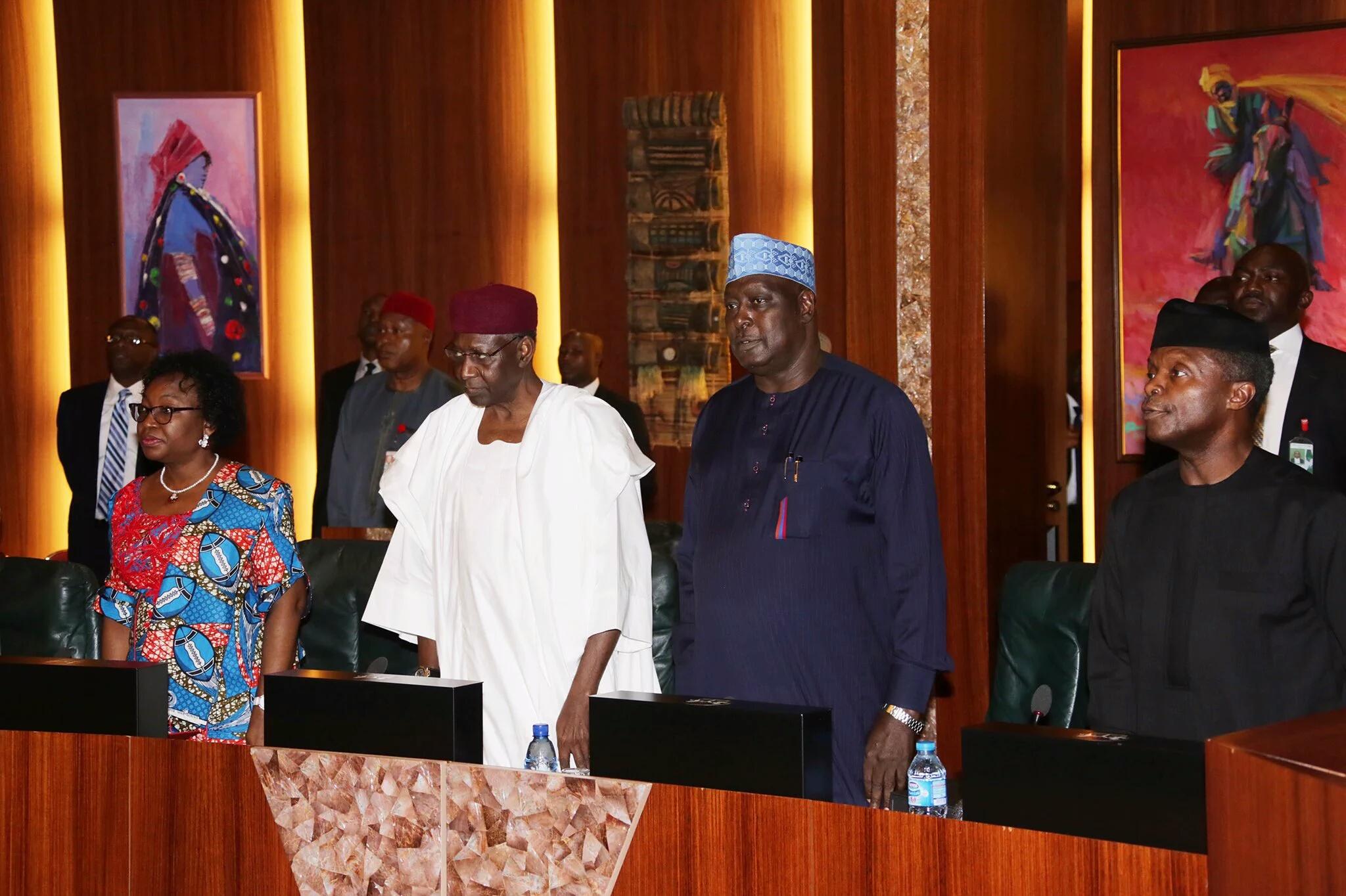 Image result for federal executive council nigeria 2017