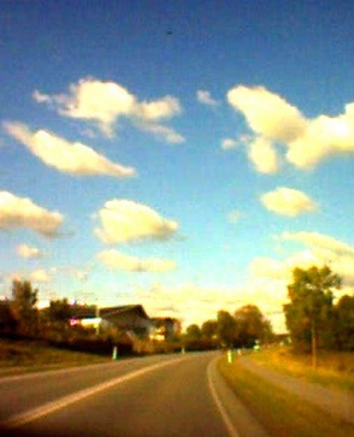 Skyen på vejen i Kolding. Foto: Nathalie Saltz
