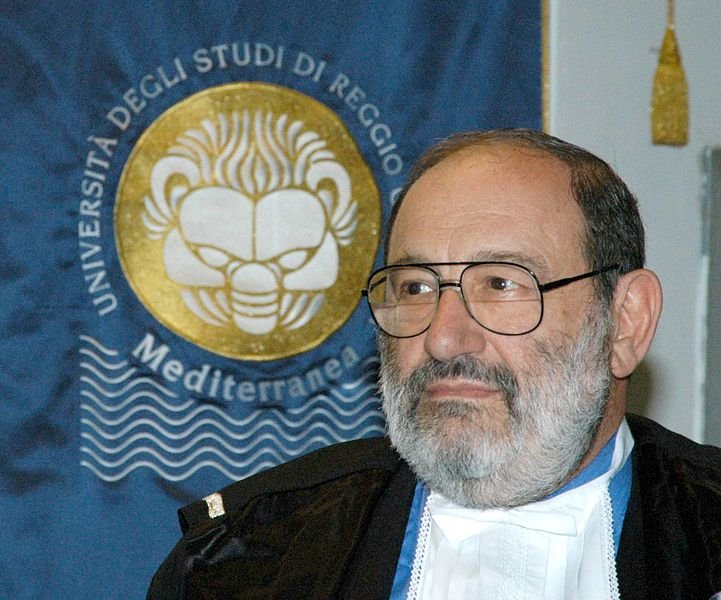 Umberto Eco fotograferet i 2005. Udgivet under GFDL-icens af Università Reggio Calabria