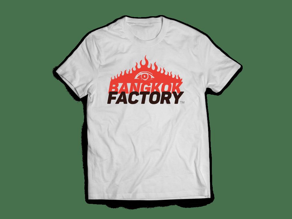 バンコクファクトリーのシルクスクリーン白Tシャツ