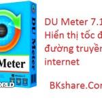 DU Meter 7.11 – Hiển thị tốc độ đường truyền internet