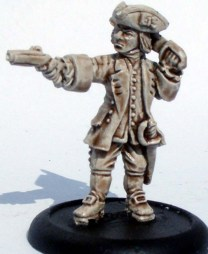 Royal Navy Leiutenant with pistol & cutlass