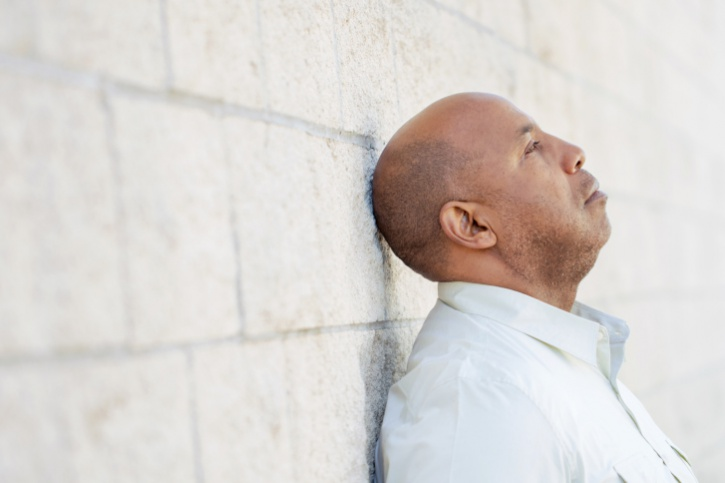 African American man sad depressed