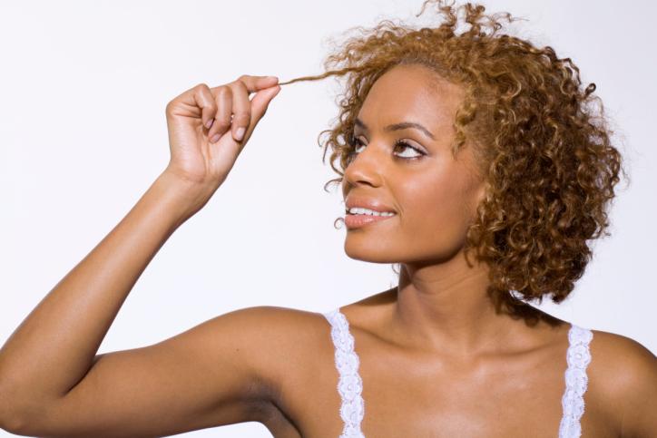 African American woman hair