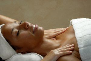 african american woman at the spa