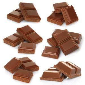 broken pieces of milk chocolate bar