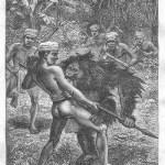 オランウータンと戦う人間たち