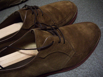 靴 スエード 汚れ 補修後
