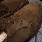 スエード靴の汚れを身近にある物で消したこと